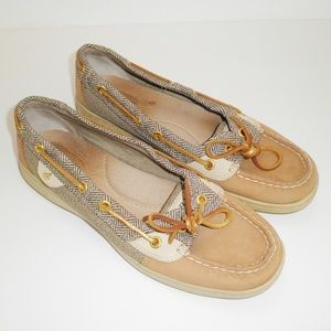 Sperry Top Sider Angelfish Linen Herringbone Shoes
